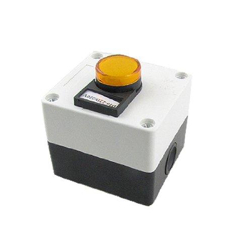 220V Led Yellow Light Signal Indicator Lamp Station Ad16-22D