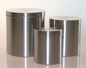 ikea edelstahldosen set ransby 3 vorratsdosen aufbewahrungsdosen mit deckel verschiedene. Black Bedroom Furniture Sets. Home Design Ideas