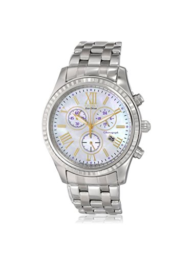 Citizen Women's FB1360-54D Silver/Mother of Pearl Stainless Steel Watch