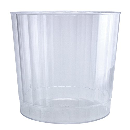 Enimay 9 oz. Clear Hard Plastic Tumbler Cup 20 Pack - 1