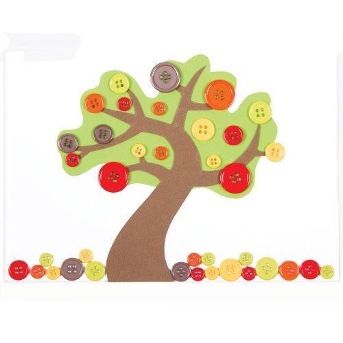 Bottoni Colorati Motivo Autunno Per Bambini Per Creazioni