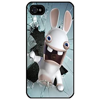Ref 66 - Iphone 4/4S アイフォン 4/4S case  カバー Rabbid broken glass