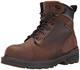 Timberland PRO Men\'s 6 Inch Resistor Comp Toe WP Work Boot, Brown, 10.5 M US