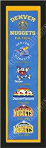 Heritage Banner Of Denver Nuggets-Framed Awesome & Beautiful-Must For A... by Art and More, Davenport, IA