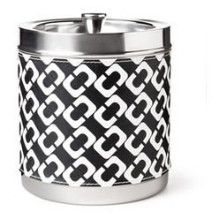 diane-von-furstenberg-black-and-white-chain-link-stainless-steel-ice-bucket-by-diane-von-furstenberg