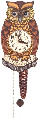 German Cuckoo Clock - Owl with Moving Eyes - Large