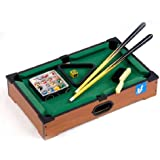 "21"" Mini Tabletop Pool Table Wood Billiards Set w/ Accessories by Kole Imports"