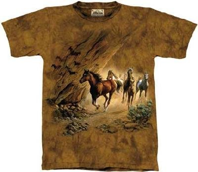 The Mountain Sacred Passage Horse Pony Short Sleeve Tee T-Shirt Adult L front-656884
