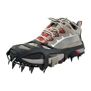 Yimidear 靴 滑り止め アイゼン スノースパイク 雪道 滑り止めスパイク アイス靴 メンズ レディース 子供用(L)