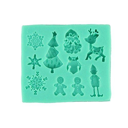 3D Pochoirs à Gateaux, Flocon De Neige Noël Moule Moules Décoration de GâTeau à GâTeaux En Silicone au Chocolat (Vert)