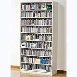 オークス タンデムCDストッカー ホワイト収納枚数:CD最大1503枚、DVD最大672枚 TCS890W