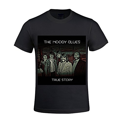 THE-MOODY-BLUES-True-Story-Men-T-Shirts-Round-Neck-Casual