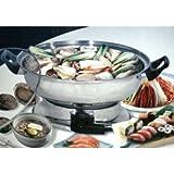 Shabu Shabu Hot Pot, Electric Mongolian Hot Pot W/DIVIDER