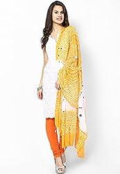 Soundarya Ethnicwear Cotton Bandhej Handwork Dupatta for Women (3036)
