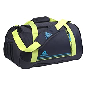 adidas Women's Squad Duffel Bag, One Size/10 3/4 x 20 x 9 3/4-Inch, Mercury Grey/Electricity