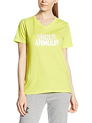 Under Armour Camiseta Manga Corta Branded Core Wordmark (Amarillo)