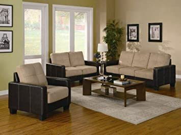 Waite 3 Piece Sofa Set in Khaki