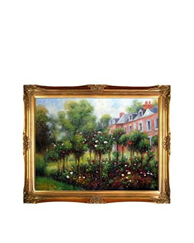 Pierre Auguste Renoir's The Garden At Fontenay, 1874 Framed Hand Painted Oil On Canvas