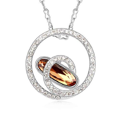 Boxingcat Fine Jewelry Swarovski Style Clear Austrian Crystal Pendant Necklaces Bgca9582 front-1013265