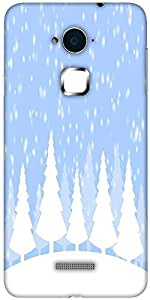 Snoogg Snow time 2374 Solid Snap On - Back Cover all Around protection For Coolpad Note 3 (White, 16GB)