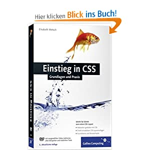 Einstieg in CSS: Inkl. CSS-Layouts, direkt einsetzbare Layoutvorlagen (Galileo Computing)