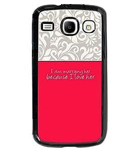 Fuson 2D Printed Love Designer back case cover for Samsung Galaxy Core I8262 - D4292