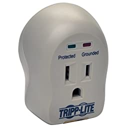 Tripp Lite 1 Outlet Portable Surge Protector/Suppressor, Wall Mount Direct Plug-in, & $5K INSURANCE (SPIKECUBE)