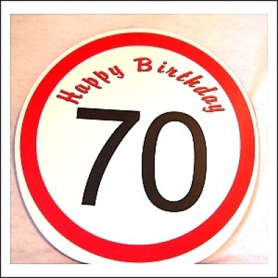 Udo Schmidt Geschenktüte Happy Birthday 70