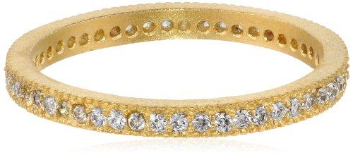 gorjana Aubrey White Crystal Gold Ring, Size