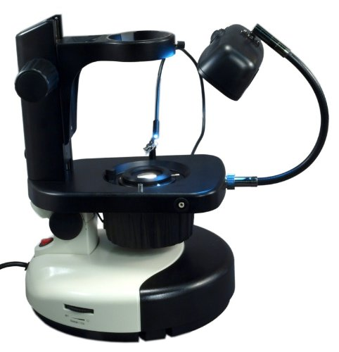 Omax Gem/Jewel Stereo Zoom Microscope Stand With Standard 76Mm Mount Size