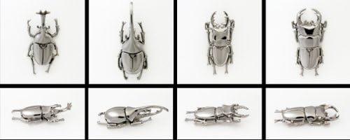 昆虫の銀製リアルピンブローチ カブトムシ