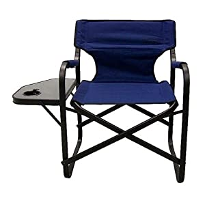 Coleman Oversized Portable Camping Deck Chair W Side Table