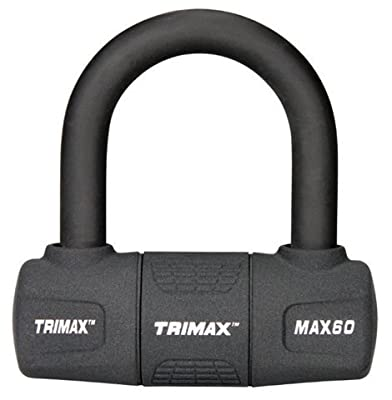 TRIMAX MAX60 Black Short Shackle U-Lock with PVC Sleeve