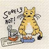 Mouseloft Mini Cross Stitch Kit Surely Not Biscuit the Cat Collection