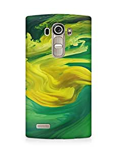 Amez designer printed 3d premium high quality back case cover for LG G4 (Hurricane Swirl Abstract Art Paint Green Pattern)