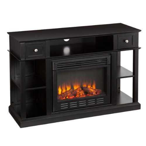 Upton Home Nixon Black Media Console/ Stand Electric Fireplace picture B00HFWLNDY.jpg