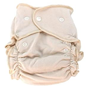 Tiny Tush Hemp/cotton Fitted Diaper (natural trim and snaps)