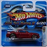 Hot Wheels 2005 First Edition Short Card Realistix #006 Red 2005 Ford Mustang Gt Die Cast