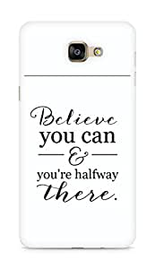AMEZ believe you can and you are there halfway Back Cover For Samsung Galaxy A9