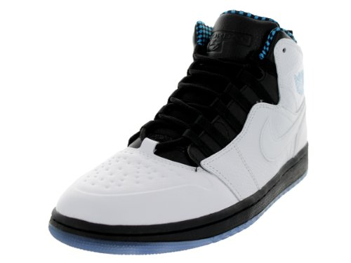 Images for Nike Jordan Men's Air Jordan 1 Retro '94 White/Black/Dk Powder Blue Basketball Shoe 9 Men US