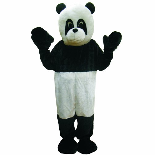 Dress Up America Panda Bear Mascot, Black/White, One Size