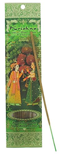 1 X Krishna - Vetiver, Cedarwood & Halanadi - Ramakrishnananda Hand-Rolled Stick Incense (Vetiver Incense Resin compare prices)