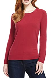 M&S Collection Cashmilon? Crew Neck Jumper [T38-1051-S]