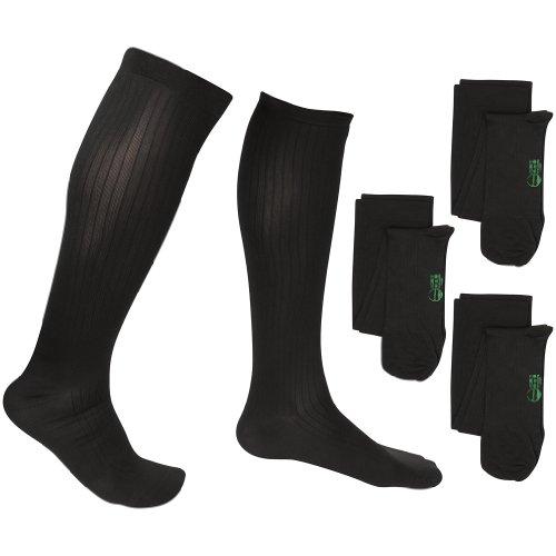ff5d2cd79f 2 Pair EvoNation Men s Travel USA Made Graduated Compression Socks 8-15 mmHg  Mild