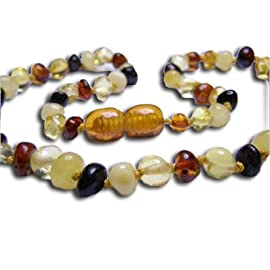 Baltic Amber Teething Bundle - Amber Teething Necklace & Tooth Tissues