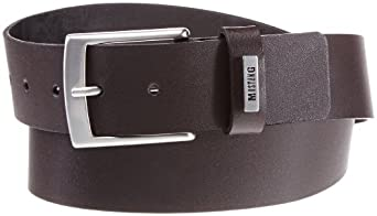 Mustang - Ceinture - Homme - Marron (Chocolate 340) - FR : 12/2 (Taille fabricant : 100)