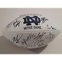 2012 Notre Dame Fighting Irish Team Signed Football Manti Te'o with Certificate of Authenticity and Proof Photos