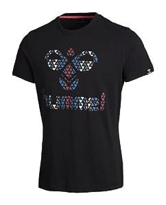 Hummel Devito T-shirt manches courtes pour homme Noir noir Small