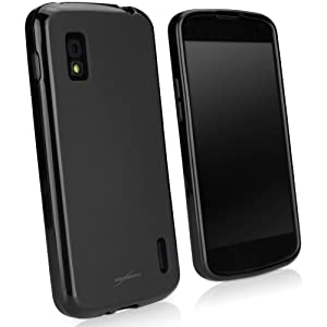 BoxWave Blackout LG Nexus 4 Case - Durable, Slim-Fit Black TPU Case with Stylish Dual Glossy and Matte Finish - LG Nexus 4 Cases and Covers