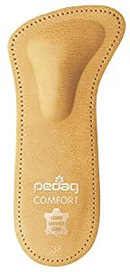 Pedag 142 Comfort 3/4 Leather Orthotic with Supportive Metatarsal Pad and Heel Cushion, Tan, Women's 7